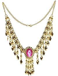 10626bd319d2 India bollywood collares de danza para mujer del vientre cadenas de oro  colgante joyas pieza principal