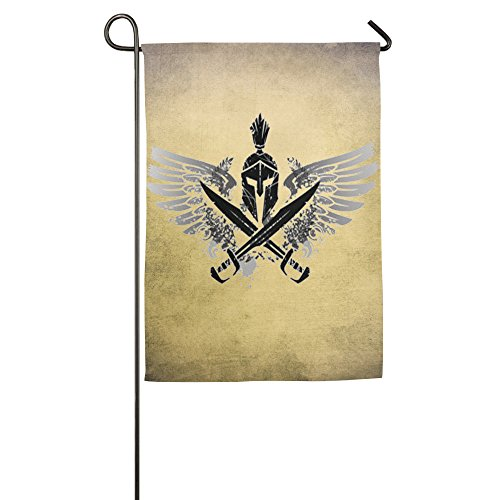 Der Engel Spartan House Flaggen, dekorative Flaggen, Outdoor Flaggen, Hof Flagge, Home Flagge, weiß, 46*69 cm -