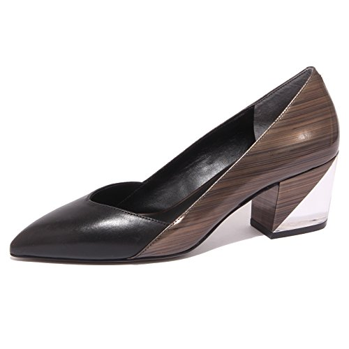 8784P decollete WHAT FOR nero/bronzo scarpa donna shoe woman [40]