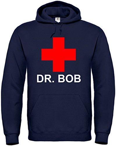 (Hoodie DR. Bob S bis 5XL (L, Dunkelblau))