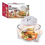 Quest 43890 Halogen Oven Low Fat Fryer Glass Housing,12L, 1400 Watt, White, 1300