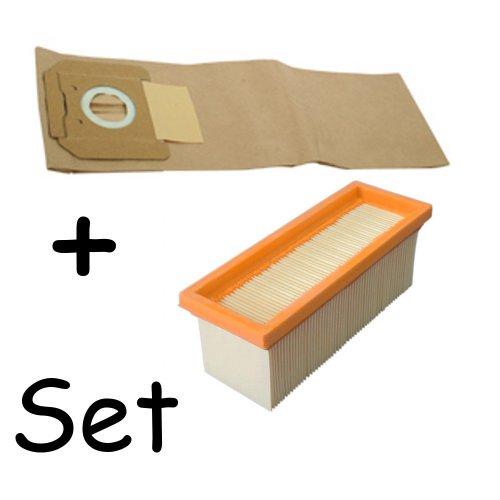 daniplus© SET 10 Staubsaugerbeutel + Filter passend für Kärcher 2701, 2801, 6.904-263