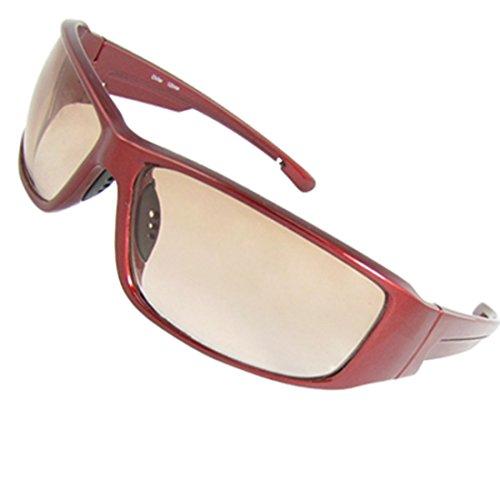 UV-Schutz Burgund Kunststoff Rahmen Unisex Freizeit Sonnenbrille
