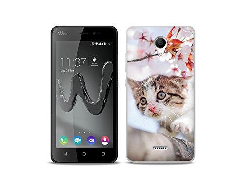 etuo Handyhülle für Wiko Freddy - Hülle Foto Case - Junge Katze - Handyhülle Schutzhülle Etui Case Cover Tasche für Handy