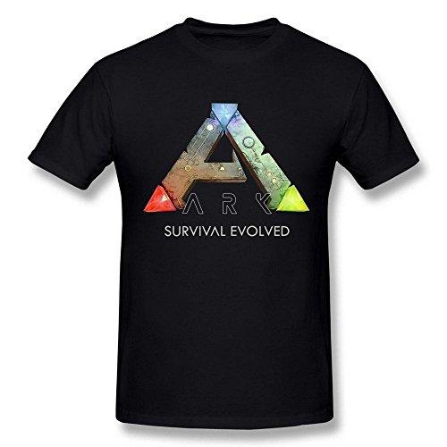 Herren's Ark Survival Evolved Game Logo Poster schwarz T Shirt XXLarge