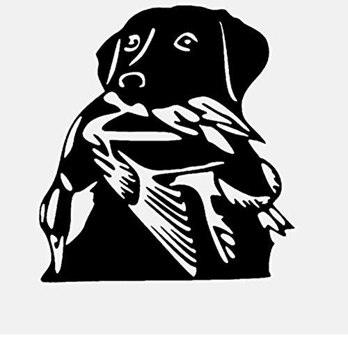 Kunst Cartoon Hintergrund Wandaufkleber Tier Hund Ente Jagd Wohnzimmer Schlafzimmer Aufkleber Dekoration Abnehmbare Selbstklebende Schlafsaal Wandbild 55 * 59 Cm -