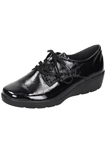Semler  J7015051001, Chaussures de ville à lacets pour femme Noir Noir Noir