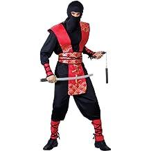 Ninja Martial Arts Mens Fancy Dress Samurai Master Costume 4 Sizes (Men: X-Large) (disfraz)
