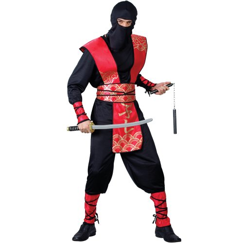 Up Ideen Dress Ninja (NINJA MASTER ADULT COSTUME FANCY DRESS UP)