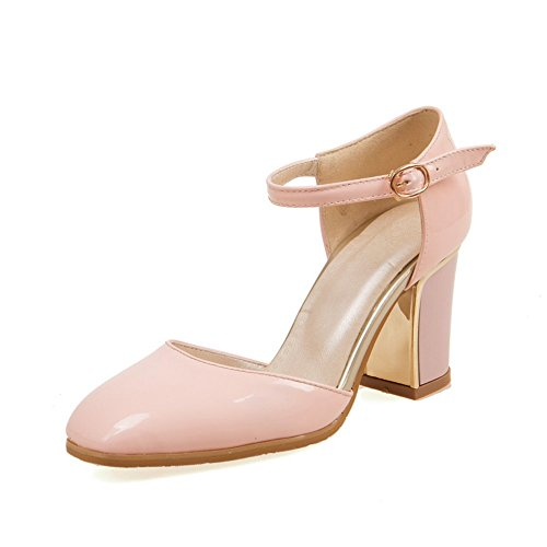 Adee Femme Square-Toe ankle-cuff polyuréthane Sandales Rose - rose
