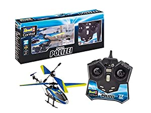 Revell Control- Helicopter Polizei Juguetes a Control Remoto, Color Azul (23827)
