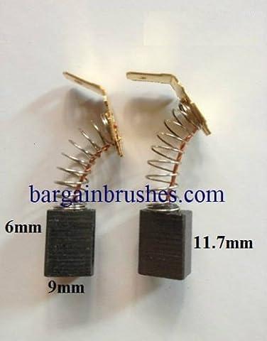Carbon Brushes to fit Ryobi ERH-600V Corded SDS dril ERH 600V 6X9MM Drill E45