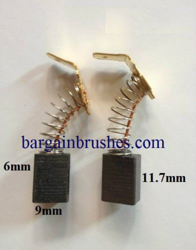 Price comparison product image Carbon Brushes to fit Ryobi ERH-600V Corded SDS dril ERH 600V 6X9MM Drill E45
