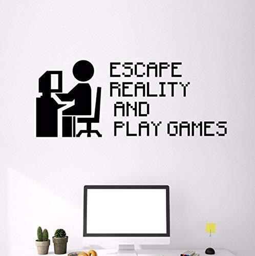 Zitat Vinyl Wandtattoo Videospiel Gaming Pixel Kunst Aufkleber Wohnkultur Kinderzimmer Schlafzimmer Abnehmbare Wandaufkleber ()