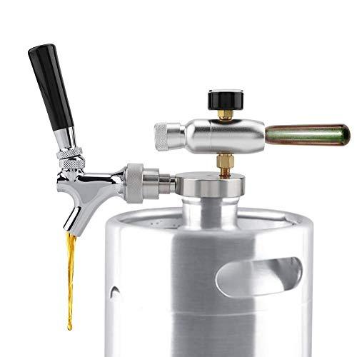 Grifo de barril de cerveza de acero inoxidable Inyector de CO2 para Cerveza para 2L / 3.6L / 4L Mini...