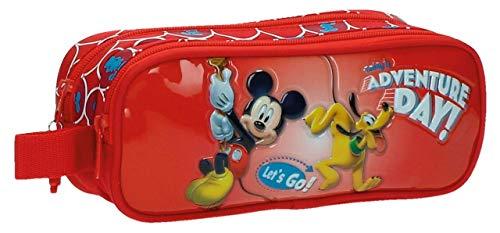 Walt Disney-Trousse double compartiment Adventure Day Rouge
