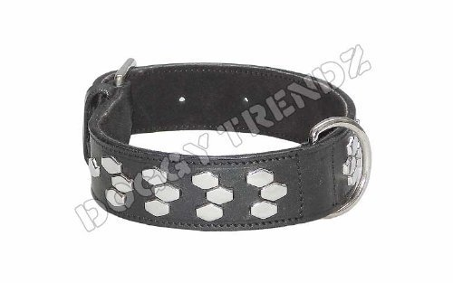 Artikelbild: Avon Pet Products Sechseck chrom Nieten Leder Hundehalsband