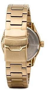 Puma Time - Reloj analógico para caballero de acero inoxidable beige de Puma Time