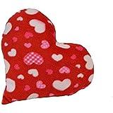 Herzkissen mit Herzmotiven
