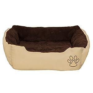 TecTake Lit douillet pour chiens 60x48x18cm panier corbeille couchage brun