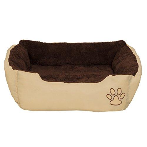 TecTake Hundebett Hundekissen Hundesofa Schlafbett braun - diverse Größen - (Größe M | no. 401419)