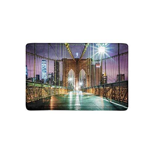 lyn Bridge vor Sonnenaufgang New York City Fußmatte rutschfeste Fußmatte für Innen und Außen Wohnkultur, Eingangsteppich Fußmatten Gummiunterlage ()