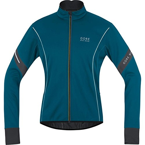 GORE BIKE WEAR  HOMBRE  CHAQUETA DE CICLISMO POWER 2 0 WINDSTOPPER SOFT SHELL  AZUL OSCURO  TALLA XL  JWMPOW