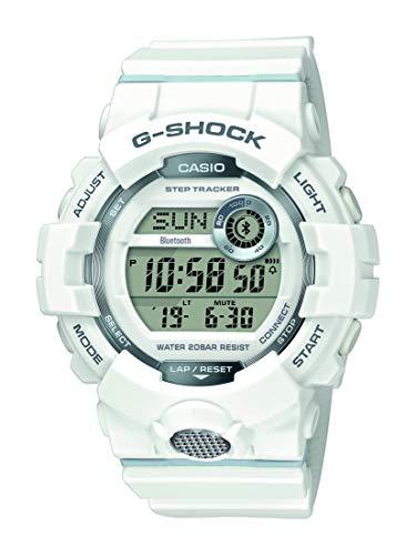 Casio G-SHOCK Digital Herren-Armbanduhr GBD-800 weiß, Schrittzähler, Bewegungssensor, kostenlose Fitness-App zum Download, 20 BAR