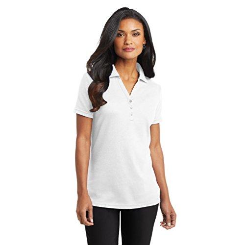 Port Authority Women'S Silk Touch Interlock Polo Xxl White