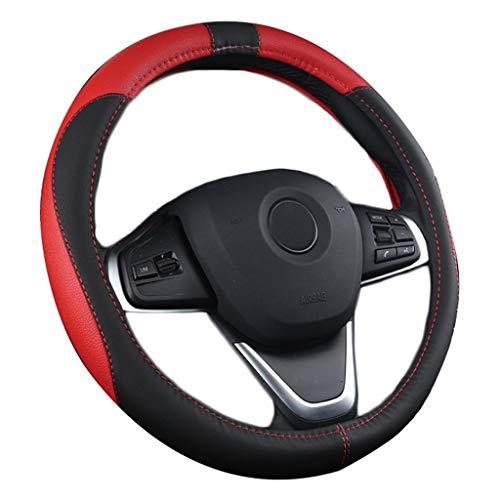ADHW Auto Lenkradabdeckung, Universal Sport Style für Alle Jahreszeiten Anti Slip Schweißabsorption für Auto/LKW / SUV/Van (Farbe : Red, größe : 40cm)