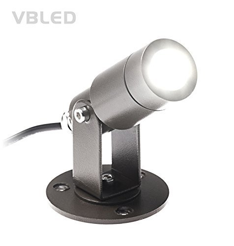 vbled 3w gartenstrahler 174 lumen warmwei 3000k 12 volt led spot aluminium schwarz. Black Bedroom Furniture Sets. Home Design Ideas