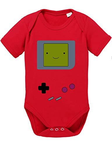 Game Smile Body PS bébé Coton Bio Proverbes Station Barboteuses Garçons et Filles 0-12, Größe2:74/7-9 Mois, Baby:Rouge