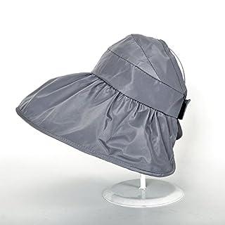 H-M-STUDIO Summer Sunshade capanti-Ultraviolet Sun capbrim Sunscreen capfoldable air-top Cool Cap,A,Silver Gray