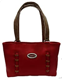 Ranbed Womens Leather Handbag_Red
