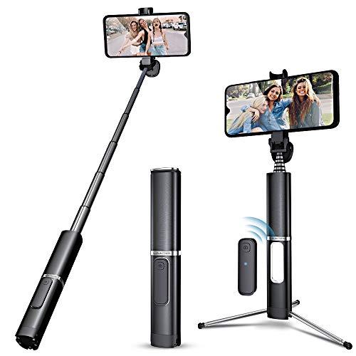 Bastone Selfie Treppiede, 3 in 1UMIDIGI Estensibile Selfie Stick con Bluetooth Remote Shutter Asta per Selfie per iPhone X, Samsung Galaxy, Huawei, Xiaomi