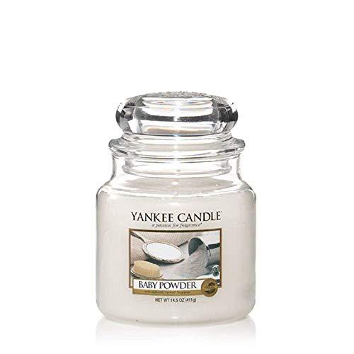 Yankee Candle Glaskerze, mittel, Baby Powder