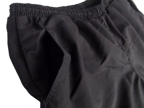 Ahorn Badeshort/ Fitnessshort in schwarz Große Größen von 2XL - 10XL Schwarz