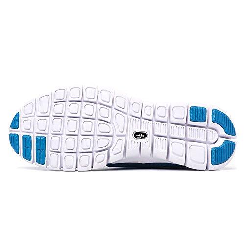 ONEMIX Air Scarpe da Ginnastica Corsa Basse Uomo Donna Sportive Running Sneaker Blu bianco