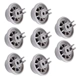 Poweka Roulettes pour lave-vaisselle 8/roues pour Roues de Panier de lave-vaisselle pour Bosch/Siemens/Neff/Constructa - Compatible avec numéro de la pièce 00165314/165314