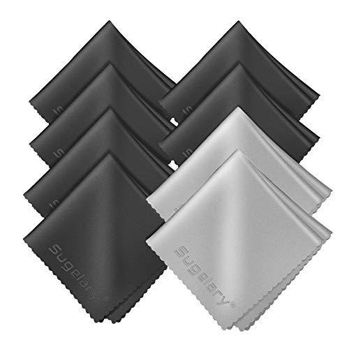 Sugelary Mikrofasertücher Mikrofaser Brillenputztuch Reinigungstücher Zum Gläser Handy Tablet-PC Laptop LCD TV PC Display Reiniger Kamera Objektiv Reinigung (8, 20 X 20 cm)