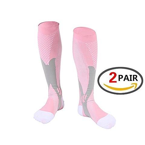 Calf Compression Sleeve for Men & Women, Best Footless Socks for Runners Calves & Leg Cramps, Shin Splints Circulation Remedy, Support Stockings, Running Gear Basketball Lycra tights …