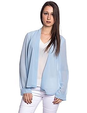 Abbino J8877 Blusas Tops para Mujer - Hecho en ITALIA - 2 Colores - Entretiempo Primavera Verano Otoño Mujeres...