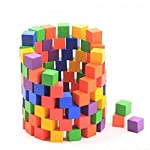 100 square blocks of colored building blocks Domino educational toys for children early education wooden toys