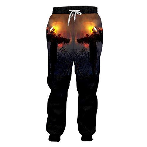 BFP-Tenos Halloween kin Pants 3D gedruckte Hose Flamme Vogelscheuche Herren Polyester Jogginghose kin Scarecrow M -
