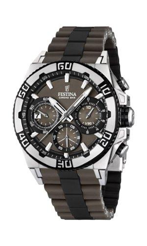 Festina Herren-Armbanduhr XL Tourchrono 2013 Chronograph Quarz verschiedene Materialien F16659/4
