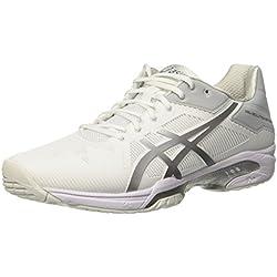 Asics Gel-Solution Speed 3, Zapatillas de Tenis para Mujer, Blanco (White/Silver 0193), 39 EU