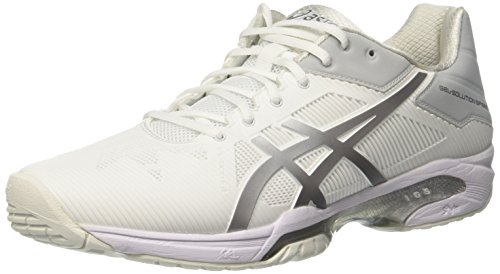ASICS Gel-Solution Speed 3, Scarpe da Tennis Donna, Bianco (White/Silver), 39 EU