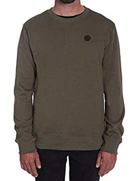 Maglione Volcom Single Stone Crew Military (S , Verde)