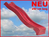 Wellenrutsche Kunststoff 2,90m ROT