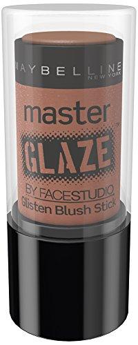Maybelline New York Master Glaze Blush Stick Warm Nude 40 / Braunfarbener Nude Rouge Stick, Make-Up für ein natürliches und perfektes Farbergebnis, 1 x 7 g